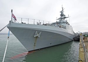 HMS Forth, the first of five new Batch 2 river-class offshore patrol vessels…