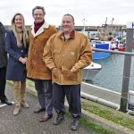 The REAF group, left to right: Michael Ladd, cabinet member for tourism and economic development on Waveney District Council, one of REAF's funders; June Mummery; Peter Aldous MP and Paul Lines.