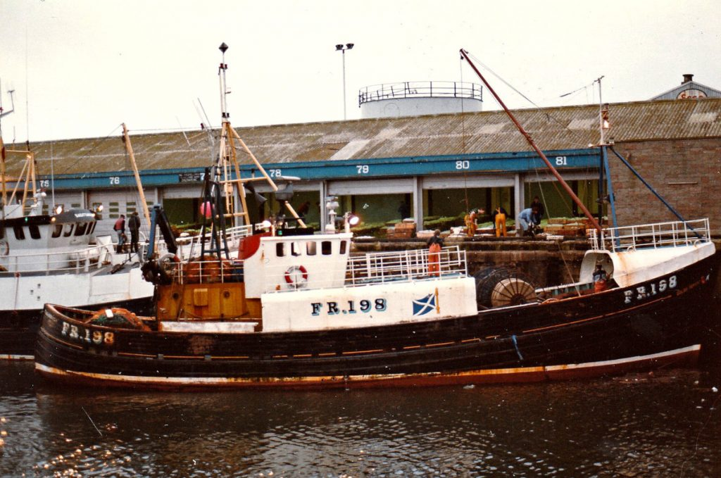 … where the Fraserburgh seine-net boat Golden Harvest FR 198, built by Forbes of Sandhaven in 1975, was the last boat to land to a full first sale.
