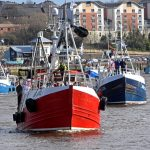 Charmel leads Good Fellowship, Ivy May, White Pearl and Mary Manson up the Tyne…