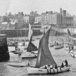 Bridlington sailing cobles struggle with a big ebb.