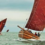 Madeleine Isabella, Avail and Three Brothers at sea during the 2018 Sailing Coble Festival.