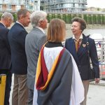 The Princess Royal was introduced to NFFO officials past and present, including Nigel Atkins, Barrie Deas, Tony Delahunty, Arnold Locker, Andrew Locker and Fred Normandale.