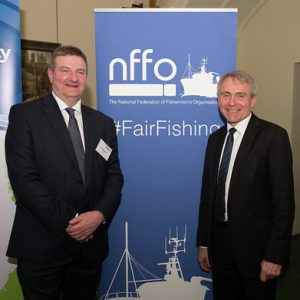 NFFO chief Barrie Deas and fisheries minister Robert Goodwill.