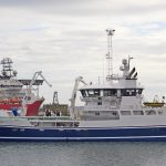 … before going alongside for the first time at Peterhead to land 1,500t of blue whiting.