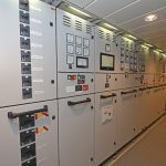 The vessel's main electrical room.
