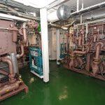 The aft high-pressure hydraulic room…