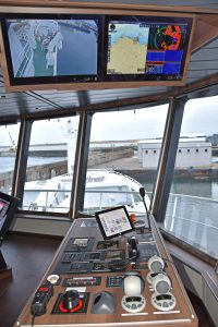 The starboard wing console and customised overhead displays.