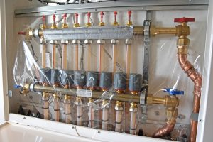 One of the central heating manifolds positioned at strategic locations…