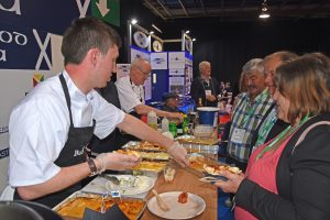 Chefs from Buchan Braes and the Palace hotels served samples of freshly cooked seafood…
