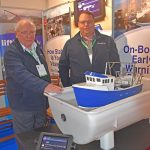 Stability monitor – Kenneth and Alasdair Smith of Hook Marine Ltd received extremely positive feedback on the recently launched innovative SeaWise real-time stability monitor.