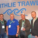 Faithie Trawl – Willie Hepburn of Fraserburgh net-maker Faithlie Trawl reported a successful show, during which he met a number of potential new customers and highly satisfied existing ones, including Caledonia III skipper Steven Clarke, Richie Main and David Main.