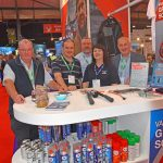 Commercial Oils – Arthur MacDonald, Tony Da Forno, Andrew Cossar, Diane Campbell and Andrew Salton take a brief time-out during a busy two days on Commercial Oils' stand, as part of Certas Energy.