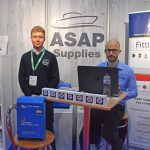 ASAP Supplies – Dominic Spencer and Ashley Bradley of ASAP Supplies reported a busy expo, during which they met fishermen and boatyard personnel, many of whom are regular customers.