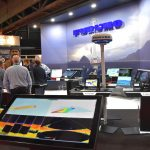 Prominent display – Bruce Hardy and the Furuno UK team exhibited a wide spectrum of the latest electronic equipment on one of the biggest stands at the expo.