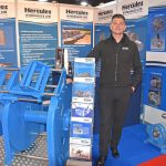 Hercules Hydraulics – first-time Aberdeen exhibitor Ryan Langley reported a good response to the custom-built deck machinery transported to the expo from Devon.