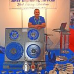 Potting power – David Middleton exhibited a variety of pot haulers and associated equipment on Solent Engineering Services' stand.