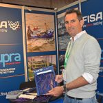 Peru exhibitor – Yoni Radzinski of FISA netting displays the company's third generation of Braided Supra Advanced Fibres HDPE netting. FISA used Aberdeen as a stage to make introductory offers and establish long-term relationships with all companies interested in purchasing directly from a prime supplier.