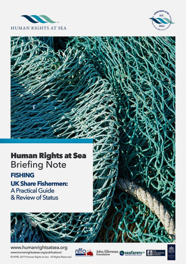 Front cover of the briefing note published by HRAS: 'UK Share Fishermen: A Practical Guide and Review of Status'.