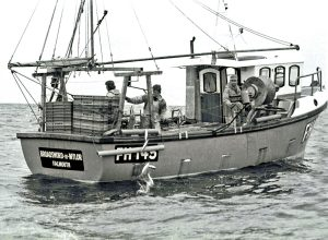 Broadsword of Mylor in the early 1980s. The Napier 29 would become known as one of the most efficient boats of under 30ft in overall length.