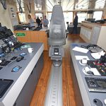 The skipper's seat is flanked by a comprehensive range of Furuno type-approved electronic equipment.