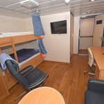 One of Kirkella's twin-berth en suite cabins.