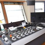 All deck machinery can be operated from the main trawl console in the wheelhouse...
