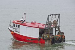 The Cygnus GM33 Valentine works triple-rig trawls for flatfish off the Kent coast.