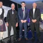 Shellfisherman of the Year finalists Jamie Clarke, Alasdair MacLean, Dominic Welsh and Andrew Stevens. (Ryan Stevenson not available.)