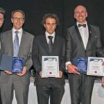 Steven Mackinson and Guille Martin Gonzalez of the SPFA/Aberdeen University/FIS and Robert Clark from SIFCA were joint winners of the Sustainability Award.