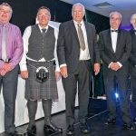Tommy Boyle, Mike Shaw, Tony Delahunty and Simon Brebner represented Port of the Year finalists Fraserburgh, Brixham, Mevagissey and Peterhead. (Newlyn not available.)