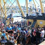 Post-race onboard parties and barbeques are an intrinsic part of trawler race day in Brixham.