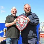 : Julie of Ladram skipper Sean Beck won the Champion Engineering Shield for the best-kept engineroom.