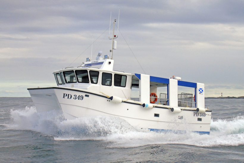 Onward: Peterhead skipper takes delivery of Catapult 10m static-gear catamaran