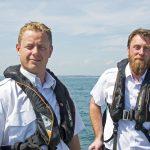Rye harbour master James Bateman (left) and deputy Karl Sandercock.