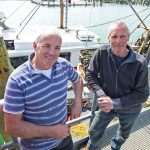 Jocalinda skipper/owner Paul Richardson and observer Mick Caister, back at the quay.