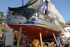 It was a big refit, but no major work was necessary to the hull.