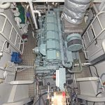Eternal Light's Mitsubishi S6R2 main engine develops 480kW @ 1,350rpm.