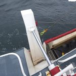 … hanging blocks on the hydraulically operated outriggers.