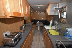 Two views of the galley…
