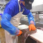 Cutting monkfish: high-value groundfish are a major part of Whitelink's business.