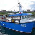 Leah III leaving Boddam harbour.
