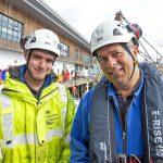 Charles Blyth, graduate MCA surveyor (left), and Roger Gee, principal consultant marine surveyor.