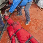 … before filling the body-overboard dummy with water…