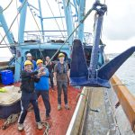 Holly Anne's crew carry out an anchor drill.