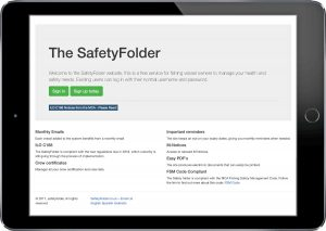 The SafetyFolder app, on a hand-held device, lets you manage all your documents.