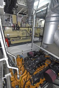 The C32 ACERT main engine and twin Beta Marine gensets.