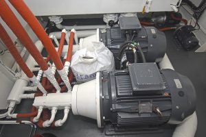 Two 45kW electric-drive pumps provide a full net-retrieve system…