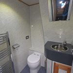 The separate WC compartment.
