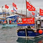 On the evening before the referendum in June 2016, inshore fishermen from Newlyn, joined by the visiting Scottish vessel Bacoden, held a protest in support of leaving the EU. Despite the anxieties about the export marketing of fish, their faith in a future outside the EU remains as strong as ever. There are many Cornish fishermen who are prepared for a rough financial ride to rid the UK of the Common Fisheries Policy.